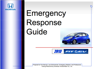 2013 Fit EV Emergency Response Guide