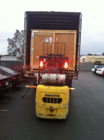 Special Equipment Crate Being Unloaded