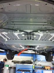 The underside of Fit EV #48, with no battery installed.